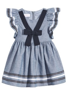 Bonnie Baby Chambray Nautical Dress, Baby Girls