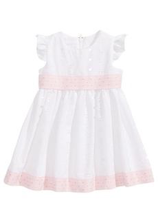 Bonnie Baby Flutter-Sleeve Eyelet Dress, Baby Girls