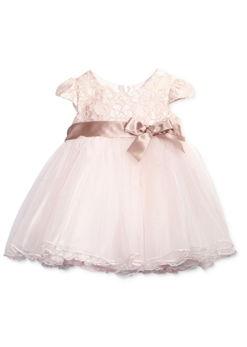 6cd71318e Bonnie Baby Bonnie Baby Metallic-Lace Ballerina Dress, Baby Girls ...