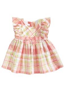 Bonnie Baby Plaid Flutter-Sleeve Sundress, Baby Girls