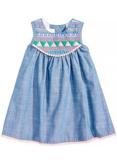 Bonnie Baby Pom-Pom Trim Dress, Baby Girls