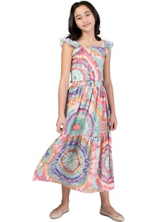 Bonnie Jean Big Girls 2-Pc. Tie-Dye Smocked Top & Maxi Skirt Set