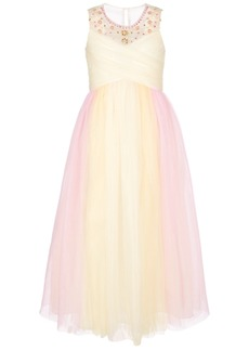 Bonnie Jean Big Girls Beaded Crisscross Ball Gown