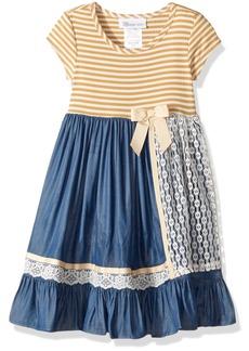 Bonnie Jean Big Girls' Chambray Dress