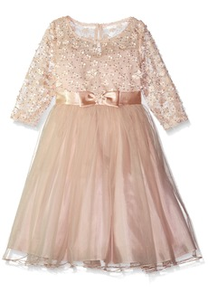 Bonnie Jean Big Girls' Daisy Sequin Dress