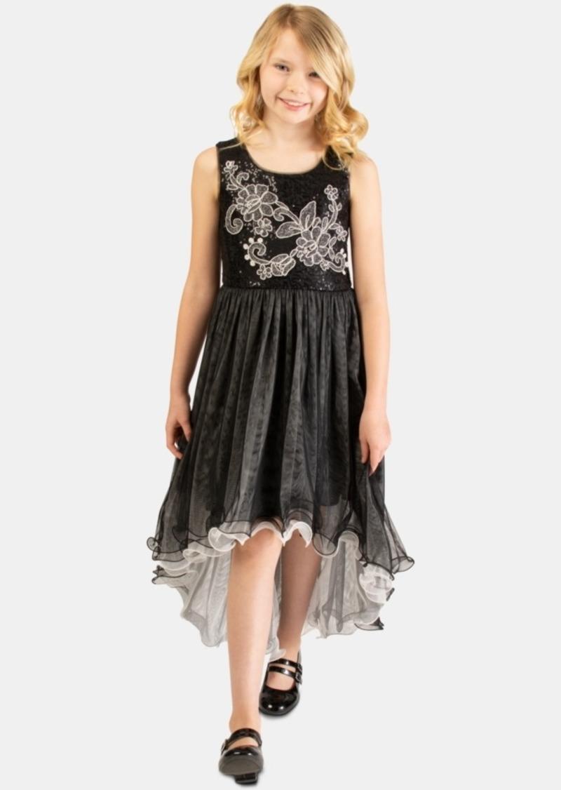 Bonnie Jean Big Girls Embroidered Sequin Dress