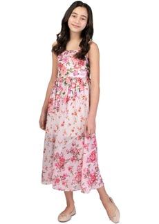 Bonnie Jean Big Girls Floral Mixed Print Maxi Dress