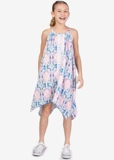 Bonnie Jean Big Girls Floral-Print Pebble Crepe Sundress