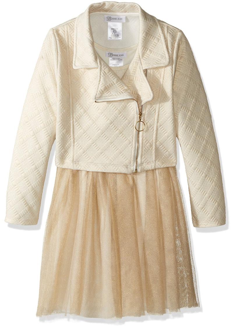 Bonnie Jean Big Girls' Moto Dress Set