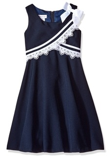 Bonnie Jean Big Girls' Little Fit and Flare Nautical Dress
