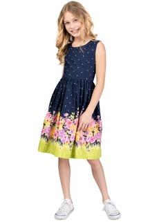 Bonnie Jean Big Girls Printed Bow-Back Poplin Dress