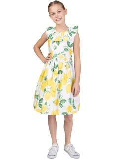 Bonnie Jean Big Girls Ruffled Lemon Dress