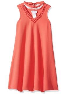 Bonnie Jean Big Girls' Sleeveless Aline Jeweled Choker Dress