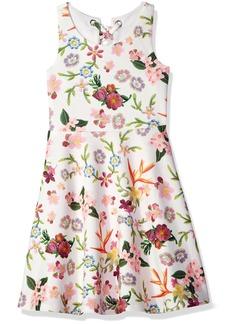 Bonnie Jean Big Girls' Sleeveless Knit Print Skater Dress