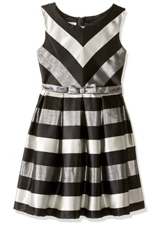 Bonnie Jean Big Girls' Striped Taffeta