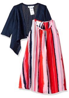 Bonnie Jean Big Girls' Two Piece Dress and Cardigan Set