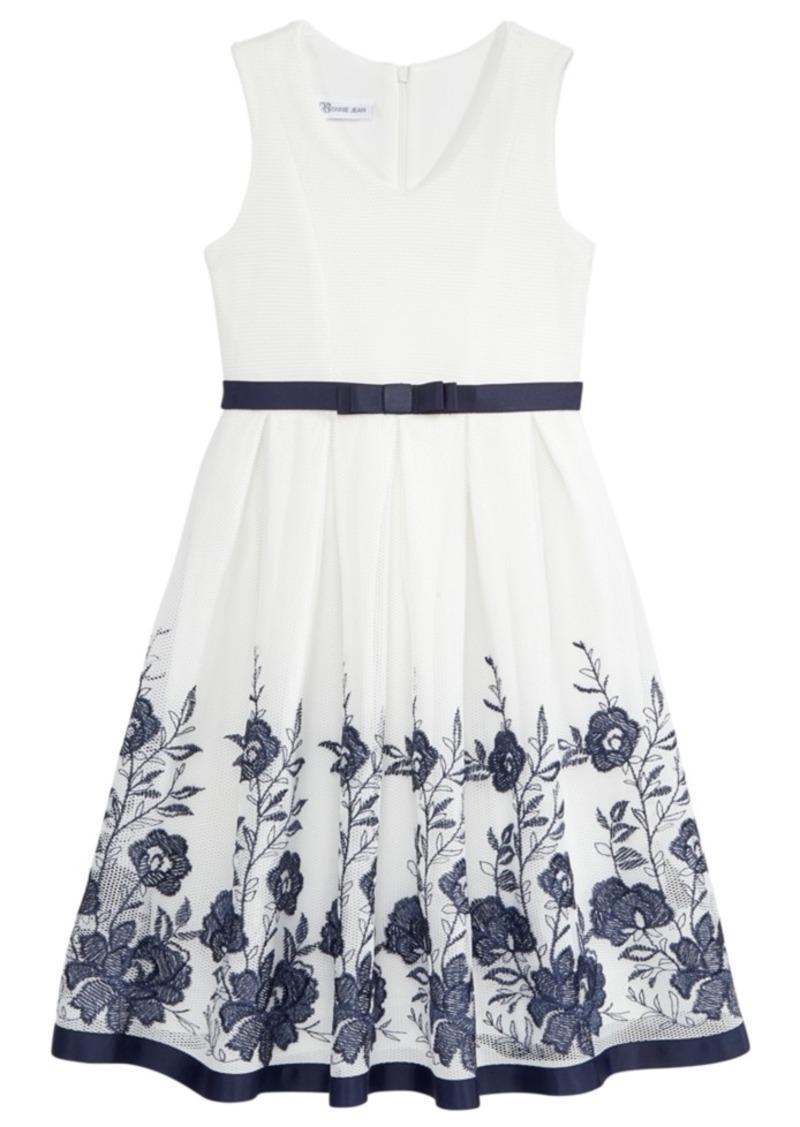 5f3c9d67eb4 Bonnie Jean Bonnie Jean Big Girls Floral Embroidered Mesh Dress ...