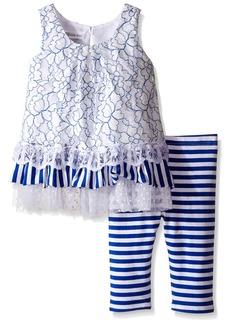 Bonnie Jean Little Girls' Sleeveless Dress and Legging Set