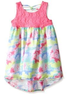 Bonnie Jean Little Girls' Sleeveless Printed Chiffon Hi Low Dress