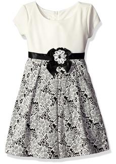 Bonnie Jean Girls' Short Sleeve Floral Knit Dress