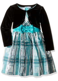 Bonnie Jean Little Girls' Taffeta Plaid Cardigan