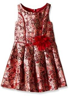 Bonnie Jean Girls Sleeveless Floral Brocade Party Dress