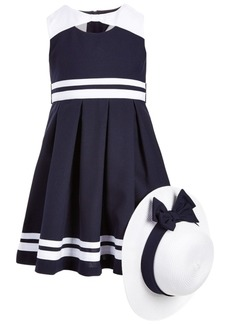 Bonnie Jean Toddler Girls 2-Pc. Nautical Dress & Hat Set