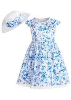 Bonnie Jean Toddler Girls 2-Pc. Straw Hat & Floral Dress Set