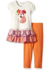 Bonnie Jean Little Girls' Appliqed Dress and Legging Set
