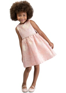 Bonnie Jean Toddler Girls Bow-Back Brocade Dress