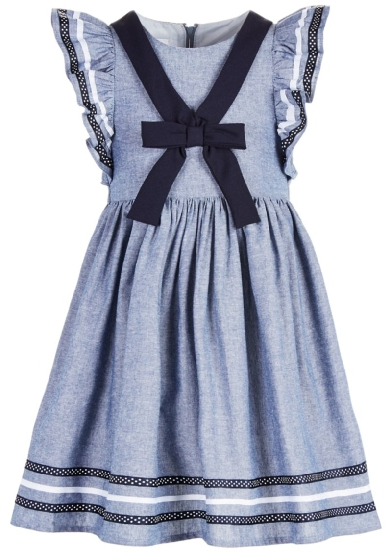 Bonnie Jean Toddler Girls Chambray Sailor Dress