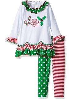 Bonnie Jean Little Girls' Chirstmas Knit Dress and Legging Set
