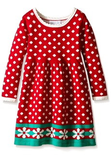Bonnie Jean Girls Long Sleeve Sweater Dress