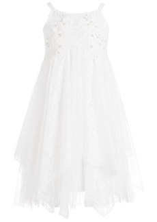 Bonnie Jean Little Girls Embellished Lace Dress