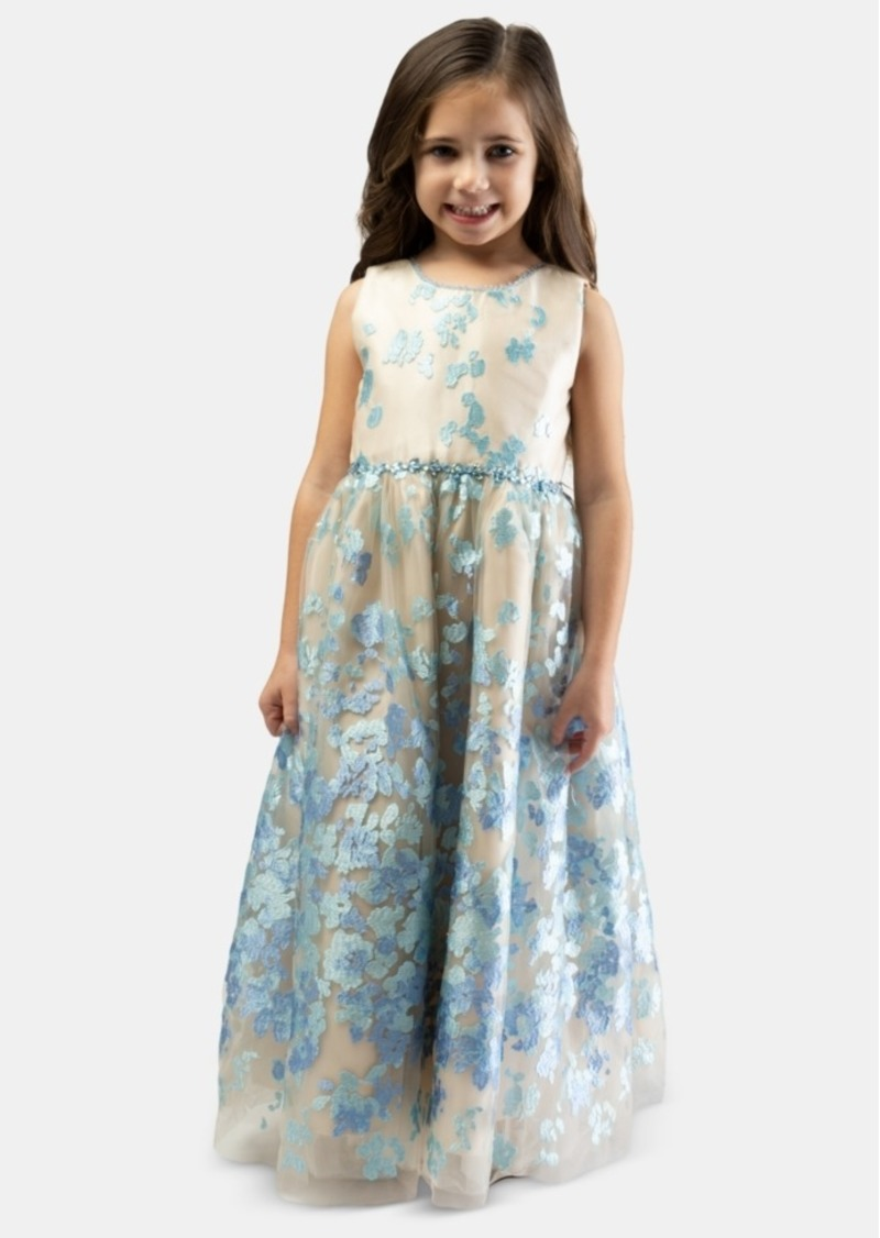 Bonnie Jean Little Girls Embroidered Ball Gown