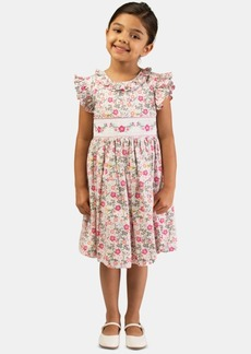 Bonnie Jean Little Girls Embroidered Smocked Waist Dress