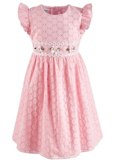 Bonnie Jean Little Girls Eyelet Dress