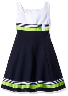 Bonnie Jean Little Girls' Fit and Flare Nautical Dress