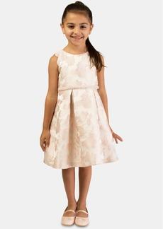 Bonnie Jean Toddler Girls Floral Jacquard Dress