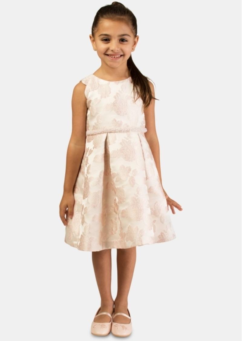 Bonnie Jean Little Girls Floral Jacquard Dress