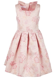 Bonnie Jean Toddler Girls Floral Jacquard Dress