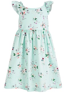 Bonnie Jean Little Girls Floral-Print Cross-Back Dress