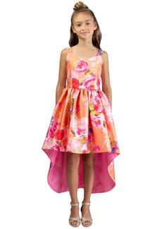 Bonnie Jean Little Girls Floral-Print High-Low Dress