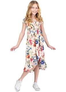 Bonnie Jean Toddler Girls Floral-Print Ruffled Midi Dress
