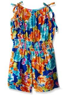 Bonnie Jean  Little Girls' Floral Printed Rayon Romper Dress  5