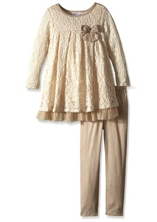 Bonnie Jean Girls' Fashion Long Sleeve Dress and Legging Set