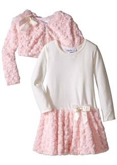 Bonnie Jean Little Girls' Knit To Faux Fur Bonaz Jacket Dress