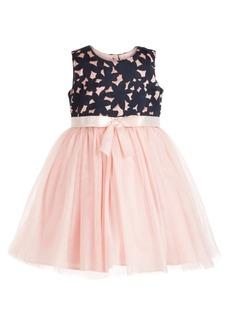 Bonnie Jean Little Girls Laser Cut Tulle Dress