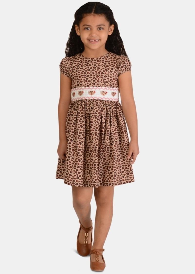 Bonnie Jean Little Girls Leopard-Print Poplin Dress
