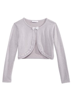 Bonnie Jean Toddler Girls Metallic Flyaway Cardigan
